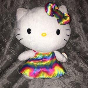 Hello Kitty Ty Beanie in Tie-dye metallic